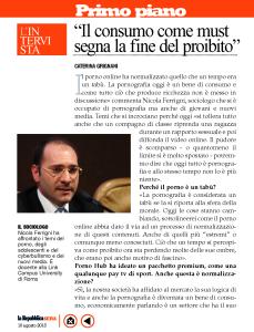 Intervista a La Repubblica Sera 1