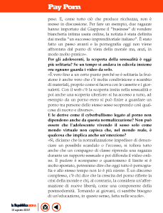 Intervista a La Repubblica Sera 2