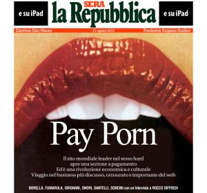 Ritaglio Copertina La Repubblica Sera